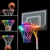 LED Basketball Hoop Lights, Lights Up Automatically After Sensing Basketball Score, 13 Kinds of Light Modes, Super Bright, Waterproof Design, Ideal for Kids, Adults Playing at Night Outdoors Indoors