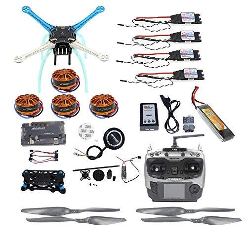 QWinOut S500 PCB Full Kit DIY GPS Drone APM2.8 500mm Multi-Rotor with 700KV Motor 30A ESC 6CH 9CH Transmitter 11.1V 4400MAH Battery (9CH TX RX)