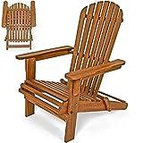 Sonnenstuhl Adirondack Akazienholz klappbar abgerundete Armlehnen Deckchair Liegestuhl Holzstuhl Gartenstuhl