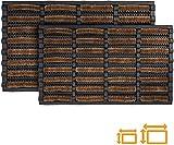GadHome Tapis d'entrée Coco Anti Boue, Marron Noir 45 x 75 cm | Paillasson d'Extérieure Résistant | Tapis d'Entrée Absorbant Fibre de Coco/Caoutchouc | Nettoyage Facile