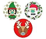 Mini Weihnachten Magnete für Kühlschrank Auto Lustig 2020 Weihnachten Gedenken Magnet Aufkleber Weihnachtsmann Elf Rentier 3er Set 3 3/4 Zoll