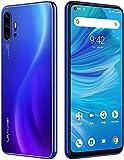 UMIDIGI F2 SIMフリースマートフォン Android 10.0 FHD+ 6.53インチ全画面 パンチホールディスプレイ 48MP+13MP+5MP+5MPクアッドリアカメラ 128GB ROM + 6GB RAM Helio P70オクタコア 5150mAh大容量バッテリー 18W高速充電 顔認証 指紋認証 技適認証済 au 使えます (ブルー)