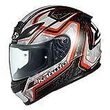オージーケーカブト(OGK KABUTO)バイクヘルメット フルフェイス SHUMA FROZE(フローズ) ブラックレッド (サイズ:L)