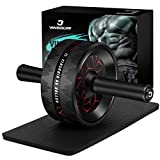Vinsguir Ab Roller for Abs Workout, Ab Roller Wheel Exercise Equipment for Core Workout, Ab Wheel Roller for Home Gym, Ab Workout Equipment for Abdominal Exercise (Black&Red)
