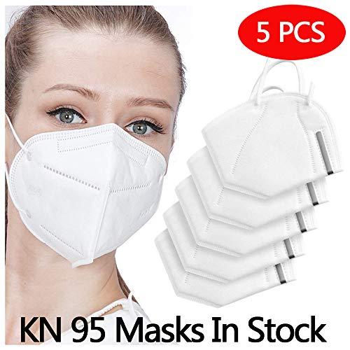 5 pcs Safety KN95 FFP2/PM2.5, adatto per molte occasioni, adulti uomini e donne Protezione personale