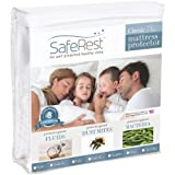 SafeRest Queen Size Classic Plus Hypoallergenic 100% Waterproof Mattress Protector - Vinyl Free