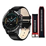 Smart Watch HD for iPhone and Android Phones, CKG Fitness Watch for Men and Women with 1.3' Full Touch Super HD Retina Display, Activity Tracker,IP68 Waterproof,Compatible iPhone Samsung