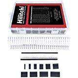 Hilitchi 635 Pcs 40 Pin 2.54mm Pitch Single Row Pin Headers, Connector Housing Female, Male/Female Pin Connector Kit