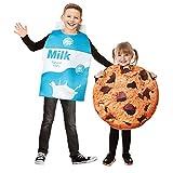 EraSpooky Kid's Cookies and Milk Carton Box Costume Halloween Food Toddler Boys Girls, OneSize