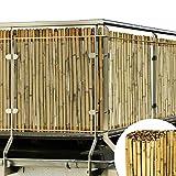 Sol Royal Canisse en Bambou SolVision B38 Fence 100x250cm haie Brise-Vue...