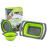 Kool Kitchen Pros Passoire Pliante Set 3pc - Tamis et Passoires Pliants en...