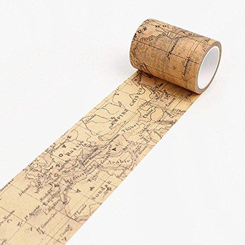 AchidistviQ Ruban décoratif Washi vintage Papier adhésif pour le masquage...