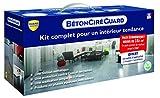 Guard Industrie - Béton Ciré Guard - Kit Prêt à l'Emploi pour Faire Soi-Même son Béton en 3h - Couleur + Protection + Finition - Fabrication Française - 4 Bidons (3x2L + 5L) - Traite 16m2 - Gris Béton