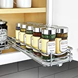 Lynk Professional 430421DS Slide Out Spice Rack Kitchen Upper Cabinet Organizer, 4' Single, Chrome