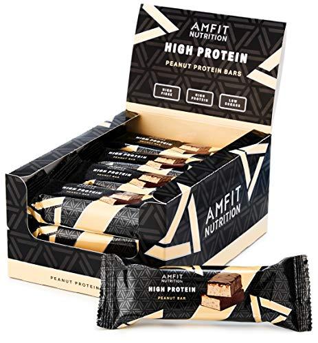 Marca Amazon - Amfit Nutrition Barra de proteína baja en az