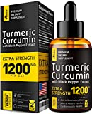 Turmeric Curcumin with BioPerine - 1200mg PER Day - Highest Potency & BIOAvailability - Turmeric Curcumin Supplement for Pain Relief & Joint Support - Anti Inflammatory Effect - No-GMO