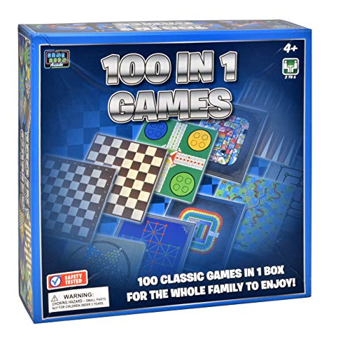 Classic Game Collection, 100 Family Board Games for Adults and Kids