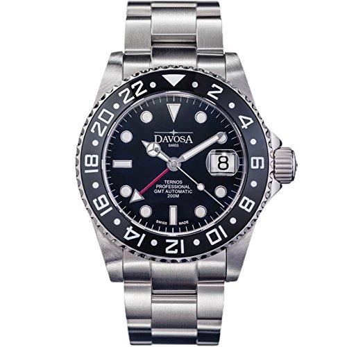 Davosa Swiss Ternos Professional TT GMT 16157150 Automatik Herren-Armbanduhr