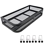 ORCISH Universal ATV Front Cargo Basket Rack Luggage Carrier Steel Mesh Surface