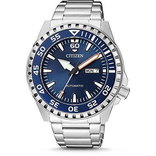 CITIZEN Herren Analog Automatik Uhr mit Edelstahl Armband NH8389-88LE