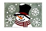 St. Nicholas Square Snowman Plush Bath Rug, Cotton Pile, 20 x 30 Inches, Christmas Traditions Winter Bathroom Decor