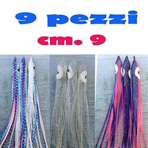 Generico Octopus POLIPETTI Esche Artificiali Pesca Canna TRAINA Artificiale Mare Barca