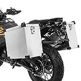 Maletas Laterales Aluminio para KTM 1090/1190 Adventure/R, 125 Duke Namib 41l-36l con Kit de Montaje de portamaletas 16mm