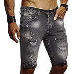 Leif Nelson Herren Jeans Shorts Sommer Jogger Kurze Hose Jeanshose...