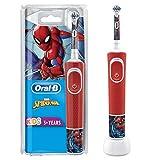 Oral-B Cepillo eléctrico recargable para niños, 1 mango con personajes de Disney Spider-Man, a...