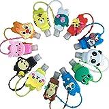 12pcs Botellas De Viaje Plastico con Pinzas y Caricaturas para Niños en la Escuela el Viaje el Aire Libre y el Campamento