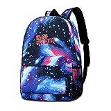 Lawenp Galaxy Backpack Iron M Kid's Fashion Mochilas Bolsa para Viajes Escolares Negocios Compras Trabajo