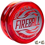 Yomega Fireball - Professional Responsive Transaxle Yoyo, Great For Kids And Beginners To Perform Like Pros + Extra 2 Strings & 3 Month Warranty (Red)