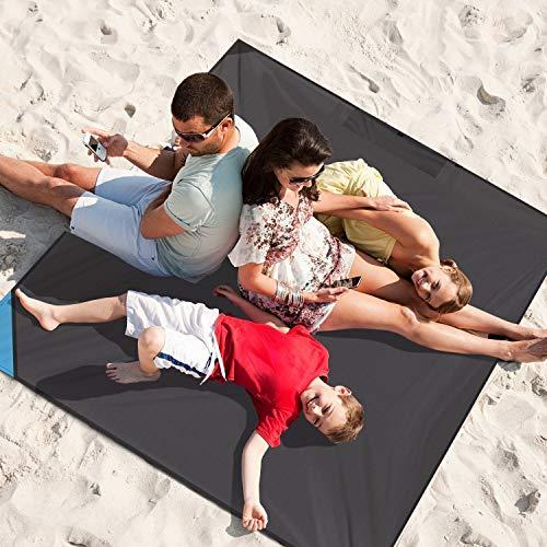 INTEY Sandfree Beach Blanket-56″x62″...