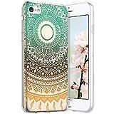Compatible avec iPhone 5C Coque en Silicone Transparente Motif Mandala Fleur...