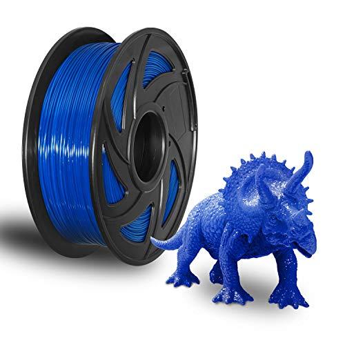 XVICO 3D PETG Printer Filament 1.75mm Blue PETG Filament 3D Printing Filament 1kg Spool(2.2lbs) Dimensional Accuracy +/- 0.05 mm, Fit Most FDM Printers Pack of 1