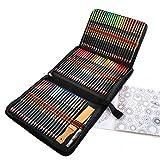 72 Crayons de Couleur Aquarellable, Set de Crayon Aquarelle pour Adultes et...