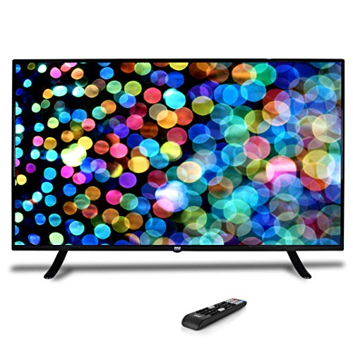 50 1080p HDTV LED Television - Hi Res Widescreen Monitor Ultra HD TV with HDMI, RCA Input, Audio Streaming, Headphones, Stereo Speaker, Mounts on Wall, Works w/Mac PC, Includes Remote Control - Pyle