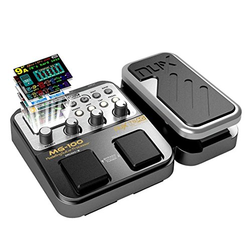 MG-100 Multieffetto Pedale Professionale Processore di Strumenti Musicali 40s Record 55 Effetti...