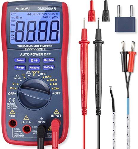 AstroAI Digital Multimeter TRMS 6000 Counts Volt...