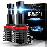 BEAMTECH H11 LED Bulb, 12000LM 50W Fanless In Line H8 H9 Halogen Replacement 6500K Xenon White