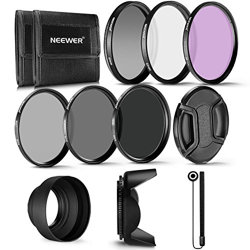 Professional UV, CPL, FLD Lens Filter and ND Neutral Density Filter(ND2, ND4, ND8) Accessory Kit