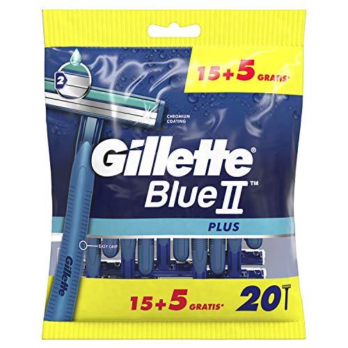 Gillette Blue II Plus Lamette da Uomo Usa e Getta, Confezione da 15+5