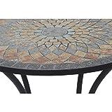 Siena Garden Tisch Prato, Ø70x71cm, Gestell: Stahl, pulverbeschichtet in schwarz matt, Fläche: Mosaik,Tischplatte: Keramik - 8