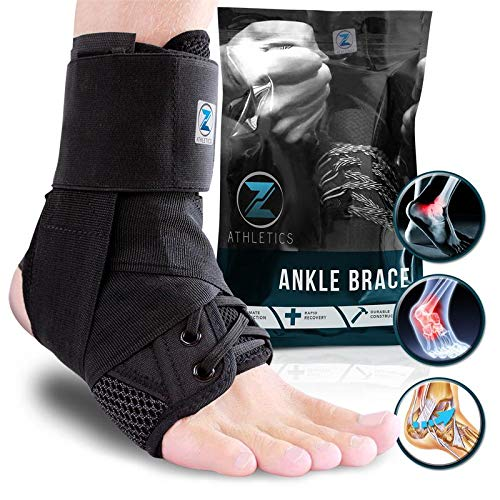 Zenith Ankle Brace, Lace Up Adjustable Support – for Running,...