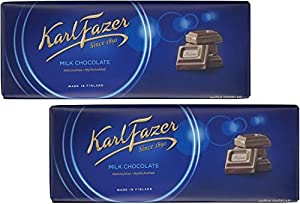 "Fazer ""Blue"" milk chocolate is made from fresh milk and high quality cocoa beans; has a unique, creamy, soft and rich taste Made in Finland; may contain traces of tree nuts, wheat Giving and receiving Fazer chocolate is a Finnish holiday tradition!"