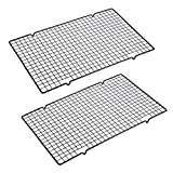 """OwnMy Set of 2 Baking Cooling Rack, 10"""" x 16"""" Non-Stick Heavy Duty Wire Oven Safe Cooling Rack for Roasting and Baking"""