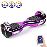 SISIGAD Hoverboard Self Balancing Scooter 6.5' Two-Wheel Self Balancing Hoverboard with Bluetooth Speaker Electric Scooter for Adult Kids Gift UL 2272 Certified 138A Series - Plating Purple