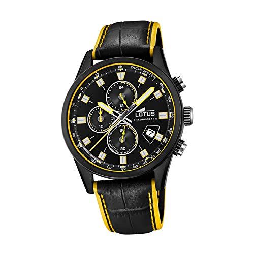 Lotus Herren Analog Quarz Uhr mit Leder Armband 18589/1