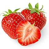 Red Strawberry Seeds 300+, Sweet Organic Non-GMO Alpine Cream Strawberry,Fruit Herb Fragaria for Home Garden Yards Planting