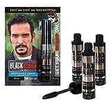 Blackbeard for Men Formula X Instant Mustache, Beard, Eyebrow and Sideburns Color - Fast, Easy,...